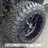 20x12 Moto Metal 962 Black Wheel - LT295/55r20 Nitto Trail Grappler tire