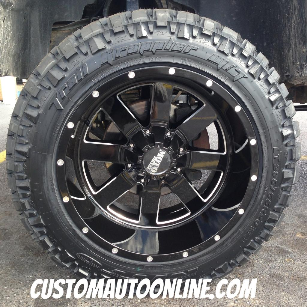 20x12 Moto Metal 962 Black - LT295/55r20 Nitto Trail Grappler