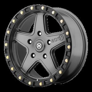 ATX Series AX194 Ravine - Matte Gray with Black Beadlock
