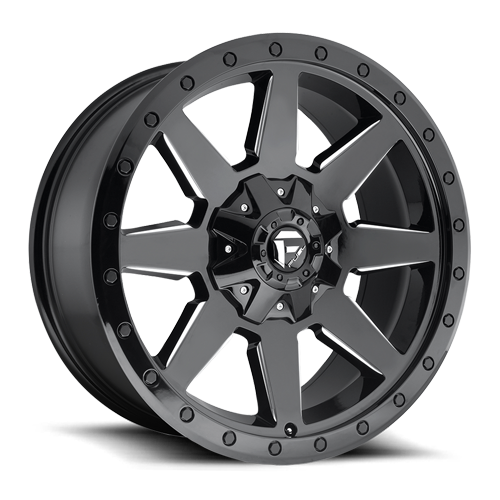 Fuel Wildcat D597 - Gloss Black and Milled