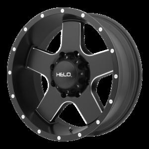 Helo Wheels HE886 - Black and Milled