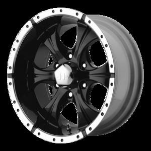Helo Wheels HE791 - Black and Machined