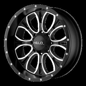 Helo Wheels HE879 - Black and Machined