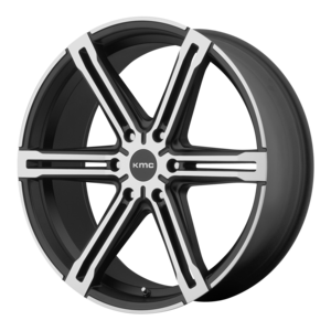 KMC Wheels KM686 Faction - Black and Machined