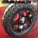 20x8.5 XD Rockstar 775 Black - LT295/55r20 Nitto Trail Grapplers