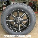 20x9 Fuel Offroad Maverick D538 Black and Milled - LT285/55r20 Nitto Terra Grappler G2