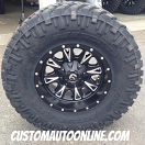 17x9 Fuel Offroad Throttle D513 Black/Milled - 35x12.50r17 Nitto Trail Grappler
