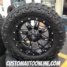 20x10 Fuel Lethal D567 Black/Milled - 35x12.50r20 Nitto Trail Grappler