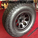 "5- Jeep- 17x9"" Mickey Thompson Classic II Black - LT295/70r17 Nitto Terra Grappler"
