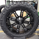 24x11 Fuel Hostage D531 Black - 38x13.50r24 Nitto Trail Grappler
