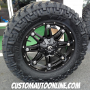 20x9 Fuel Hostage D531 Black - 35x12.50r20 Nitto Trail Grappler