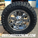 20x10 Fuel D529 Hostage PVD Chrome - 35x12.50r20 Toyo Open Country MT