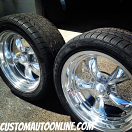 17x7 and 17x8 American Racing Torq Thrust II VN515 Polished Aluminum with 225/45r17 and 245/45r17 Milestar tires