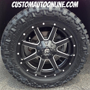 20x9 Fuel Maverick D538 Black - LT295/55r20 Nitto Trail Grappler