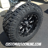 17x9 Fuel Offroad D513 Throttle matte black and milled wheel - LT285/70r17 Goodyear Wrangler Duratrac tires