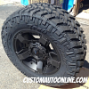 18x9 KMC XD Rockstar 2 811 wheel - LT285/65r18 Nitto Trail Grappler