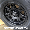 16x8 Mickey Thompson Sidebiter II Black wheel - 255/70r16 Cooper Discoverer AT3