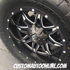 20x10 Fuel Lethal D567 Black/Milled wheel - 35x12.50r20 Nitto Terra Grappler G2 tires