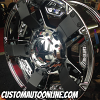 18x9 KMC XD Series Rockstar II RS2 811 PVD Chrome with black ribs