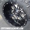 20x12 TIS 535MB black wheels - LT305/55r20 Nitto Trail Grappler tires