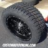 20x10 Fuel Hostage D531 matte black wheel - 305/50r20 Nitto Terra Grappler G2 tire