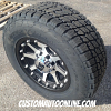 18x9 KMC XD Addict 798 black and machined wheel - LT285/65r18 Nitto Terra Grappler tires