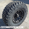 17x9 KMC Addict matte black wheel - LT295/70r17 Nitto Trail Grappler tire