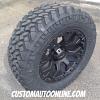 20x9 Helo HE878 Black wheel - LT295/60r20 Nitto Trail Grappler tire