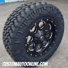 18x9 Fuel Offroad Boost D534 Black and Milled wheel - LT285/65r18 Nitto Trail Grappler