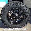 17x9 Fuel Hostage D531 Matte Black wheel - 33x12.50r20 Fuel Offroad Mud Gripper MT tire