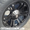 20x9 KMC XD Monster 778 Black wheel - LT295/60r20 Toyo Open Country MT tire