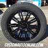 20x8.5 KMC KM677 D2 Black wheel - 265/50r20 Goodyear Fortera HL tire