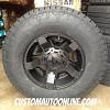17x9 XD Rockstar II RS2 black wheel - 285/70r17 Nitto Terra Grappler G2 tire