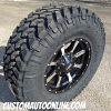17x8 Moto Metal 970 Black and Machined wheel with LT285/75r17 Nitto Trail Grapplers