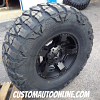 18x9 XD Series Rockstar II RS2 811 Black wheel - 37x13.50r18 Nitto Mud Grappler