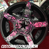 KMC XD Series Rockstar II RS2 811 Black wheel with Pink Camo Fins