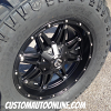 18x9 Fuel Hostage D531 Matte Black wheel - 305/60r18 Mickey Thompson Deegan 38 tire