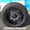 18x9 XD Riot 809 Black wheel with 285/60r18 Toyo Open Country AT2