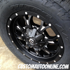 18x9 Fuel Krank D517 Black and Milled wheel - 285/60r18 Nitto Terra Grappler G2