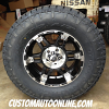 18x9 KMC XD Spy 797 Black wheel - LT305/65r18 Nitto Terra Grappler G2