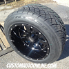 20x12 Moto Metal Mo962 gloss black and milled wheel - 305/50r20 Nitto NT420S tire