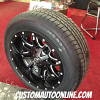 18x9 Fuel Lethal D567 black and milled wheel - 225/60r18 Milestar tire