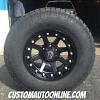 17x9 XD Addict 798 Matte Black wheel - 285/70r17 Nitto Terra Grappler G2