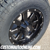 18x9 Moto Metal 962 Black and Milled wheel - LT285/65r18 Nitto Terra Grappler G2