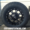 18x9 Fuel Krank D517 black and milled wheel - LT285/65r18 Nitto Terra Grappler G2