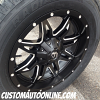 20x9 Fuel Lethal D567 Black and Milled Wheel - 275/60r20 Wild Country XTX All Terrain Tire