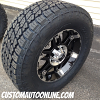 18x8.5 XD Spy Black wheel - 305/65r18 Nitto Terra Grappler G2