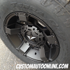17x9 KMC XD Rockstar 2 811 black wheel - 265/70r17 Nitto Terra Grappler G2