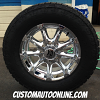 20x9 KMC XD Badlands 779 Chrome wheel - 35x12.50r20 Nitto Terra Grappler G2
