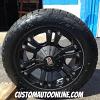 18x9 XD Monster 778 Black wheel - 255/55r18 Nitto Terra Grappler